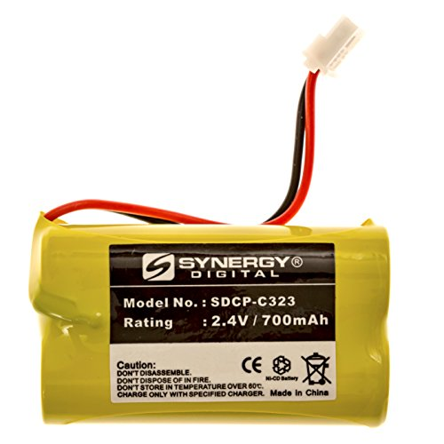 Sanyo GESPCF07 Cell Phone Battery NI-CD, 2.4 Volt, 700 mAh, Ultra Hi-Capacity Battery - Replacement Battery for Sony BP-T50, Vtech BT275242, Cordless Phone Batteries