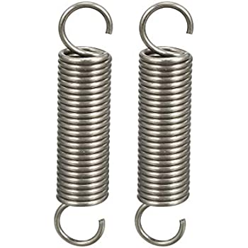 uxcell Extended Compressed Spring Wire Diameter 0.098 inches OD 0.71 inches Free Length 5.91 inches Spring Steel Small Dual Hook Tension Spring 2pcs