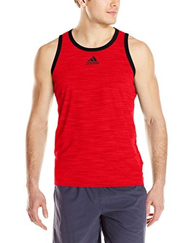Adidas Man Heathered Linne Scarlet / Svart