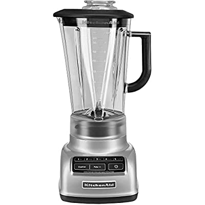 Click for KitchenAid Diamond 5-Speed Blender with 60 oz. BPA-Free Diamond Shaped Pitcher in Metallic Chrome
