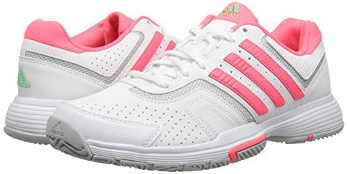 adidas Performance Women's Barricade Court W Tennis Shoe, White/Red/Onix, 9.5 M US