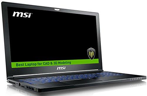 MSI WS63VR 7RL-024US Enthusiast (i7-7700HQ, 32GB RAM, 500GB NVMe SSD + 1TB HDD, NVIDIA Quadro P4000 8GB, 15.6