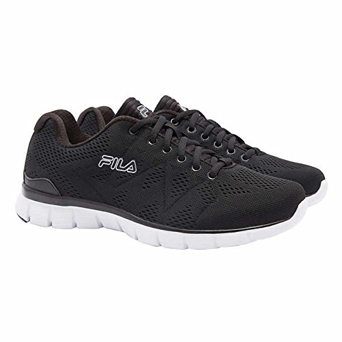 Fila Mens Athletic Shoe Memory Foam Black/White Size