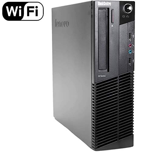Lenovo ThinkCentre M82 SFF High Performance Business Desktop Computer, Intel Core i5-34770 up to 3.6GHz, 16GB DDR3, 128GB SSD, DVD, Windows 10 Professional (Renewed)