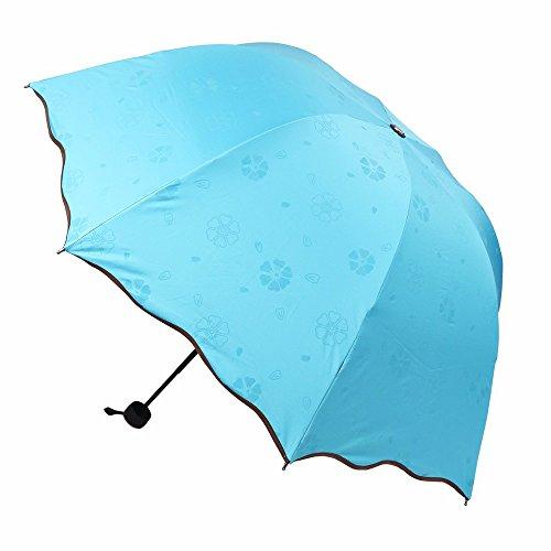 New Arrival Lady Princess Magic Flowers Dome Parasol Sun/Rain Folding Umbrella prain women transparent umbrella Alexander Mcqueen Women Shirts