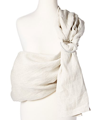 Baby Carrier Ring Sling by Hip Baby Wrap for Newborns, Infants and Toddlers (Oat) - eco-Friendly, Beautiful, 100% Linen - Perfect Baby Show Gift - Great for New mom and - Wrap Bloom