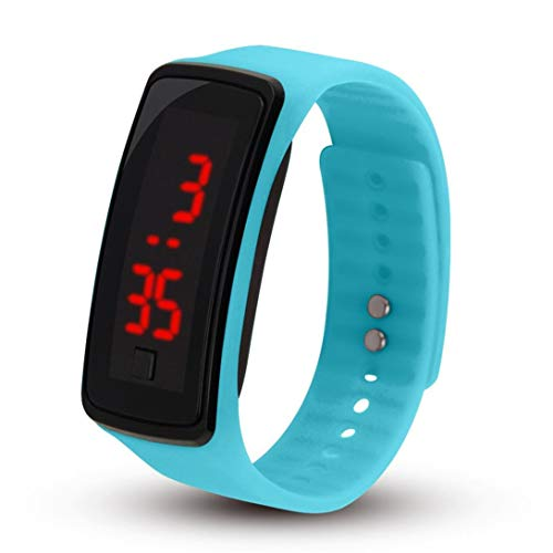 Swiftswan Sporthorloge,LED Zachte Siliconen Horlogeband Elektronisch Polshorloge Vrouwen Flexibel Verstelbaar Digitaal…