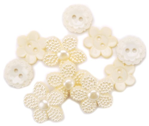 (Favorite Findings Buttons-Lace Inspirations 15/Pkg 1 pcs sku# 655850MA)