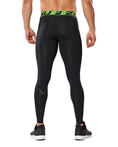 2XU Men's Refresh Recovery Compression Tights, Black/Nero, Medium by 2XU (Image #2)