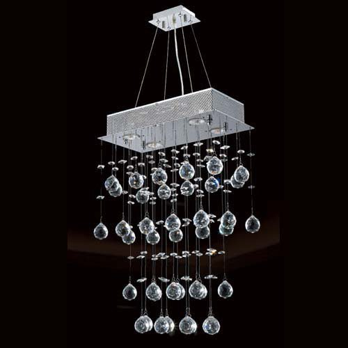 LightInTheBox Luxury 200WCeiling Light with 4 Lights and Crystal Beaded Pendants GU10 Base Chandelier