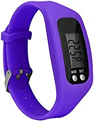 Pedometer Bracelet Watch with LCD Display Calories Miles Counter Simple Operation Walking Fitness Tracker Wris