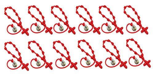 - 12 Pack Catholic Religious Bracelet with Saint Images of Cathoic Saint (St.Michael /12pcs)