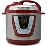Pro 6-Quart Electric Pressure Cooker in Red - Harvest