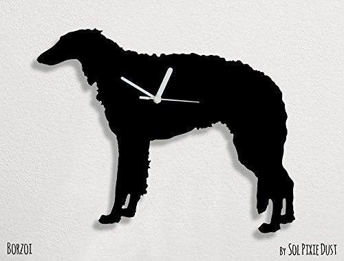 Borzoi Clock - Borzoi Dog - Wall Clock
