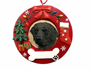 E&S Pets Labrador Chocolate Personalized Christmas Ornament