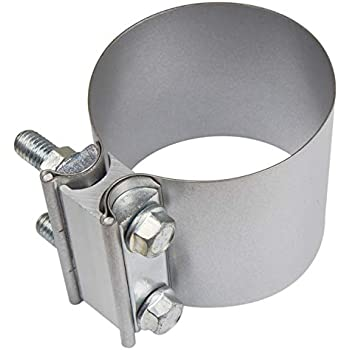 """Stainless Butt Joint Clamp Sleeve Band For Chevy 2.5/"""" 2 1//2/"""" Exhaust OD Pipe"""