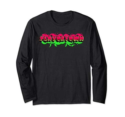Flavortown Food Culture Long Sleeve T-Shirt (Diners Drive Ins And Dives Food Trucks)