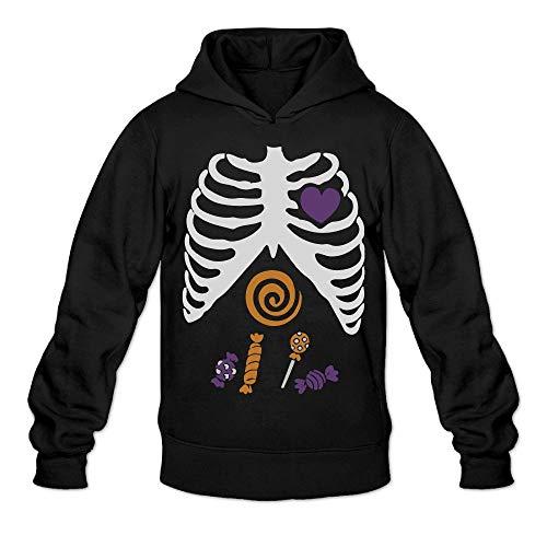 JIW9W67 Halloween Candy Bone.PNG Men's Hoodie Long Sleeve Pullover Hoodie Cotton -