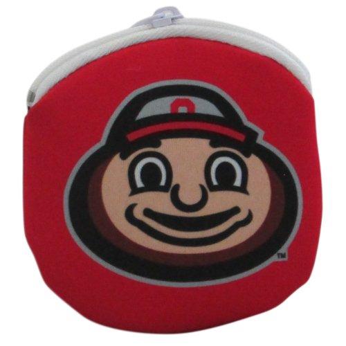 NCAA Ohio State Buckeyes Brutus Zippered Coin Purse, Scarlet, 4