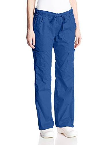 Dickies Women's EDS Signature Scrubs Jr. Fit Drawstring Cargo Pant, Royal, X-Small - Signature Drawstring Pants