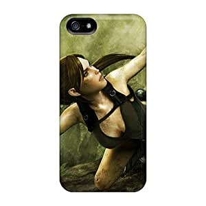 IIA11533TQbo Tpu Case Skin Protector For Iphone 5/5s Tomb Raider High Quality With Nice Appearance