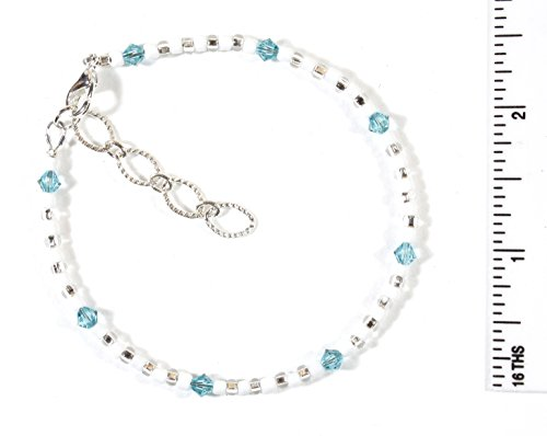 Style-ARThouse ''Take Me To the Caribbean'' Bracelet with Aqua Blue Swarovski Crystals, 7.5 Inches by Style-ARThouse (Image #2)