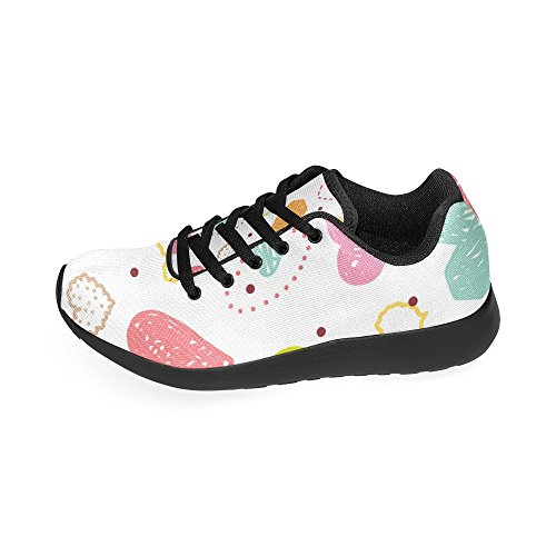 Flowers Dogs Lightweight 36 Print Sneakers Zenzzle Athletic Color8 on Pattern Womens Colorful and Shoes Paws 45 Size Casual Bone Running wvqXqxITO
