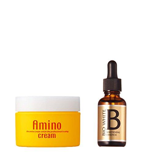 エビス化粧品(EBiS) 潤い美白セット アミノクリーム100g & エビスビーホワイト33ml 美白美容液 B010KY7KH6