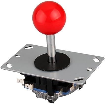 Botón Bola roja 8 modos Joystick para consola máquina recreativa arcade