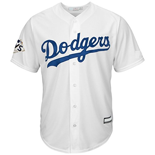 Los Angeles Dodgers Youth 2017 World Series Cool Base Home Jersey (Youth Large 14/16)