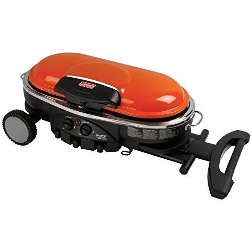 Coleman road trip propane portable grill lxe cast iron