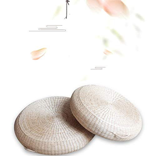 RXY-Wicker chair Summer Cool and Ventilated Round Japanese Style Thick Rattan Cushion Meditation Tea Ceremony Coffee Table Cushion [1pack] (Size : 40cm) by RXY-Wicker chair (Image #4)
