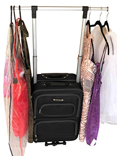 The Dance Angel Suitcase Black Carry-On (Rolling Dance Bag With Costume Rack) from The Dance Angel