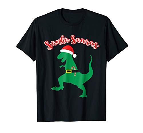 SantaSaurus Shirt Funny Christmas Gift Trex Lover Dino