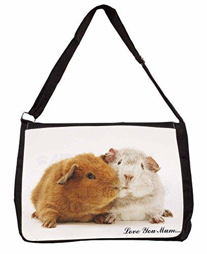 Guinea Pigs Love You Mum Large 16 Black School Laptop Shoulder Bag