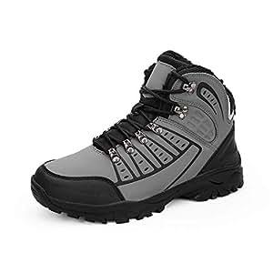 Amazon.com : Men Outdoor Hiking Shoes, Winter Faux Fur