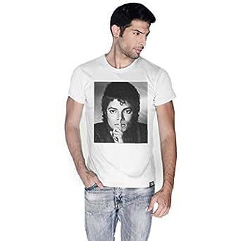 Creo White Cotton Round Neck T-Shirt For Men