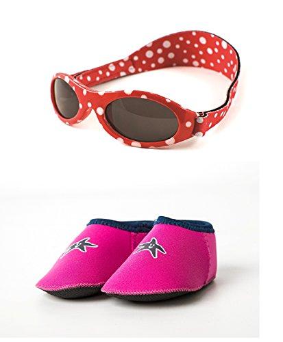 Yoccoes Paquet Cadeau Lunettes de Soleil Polka Dot Rouge Baby BANZ 0 ... 070d5633bd88
