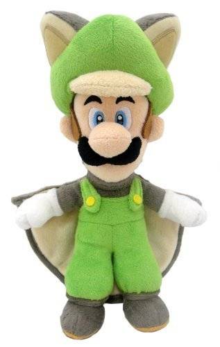 Super Mario Plush Series Plush Doll: 10-Inch Squirrel / Musasabi Luigi ()