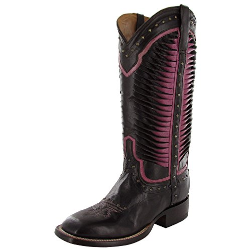 Lucchese Womens Caterina M4871 Western Fashion Boot Shoe, Chocolate, US 6.5 C