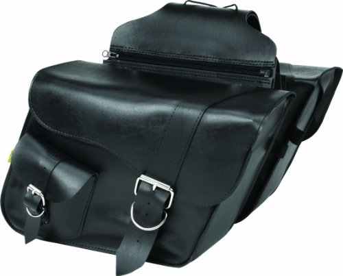 - Dowco Willie & Max 58750-00 Ranger Series: Synthetic Leather Large Slant Motorcycle Saddlebag Set, Black, Universal Fit, 19 Liter Each/38 Liter Total Capacity
