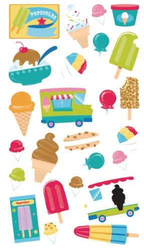 Sticko Classic Stickers, Ice Cream Truck Glitter