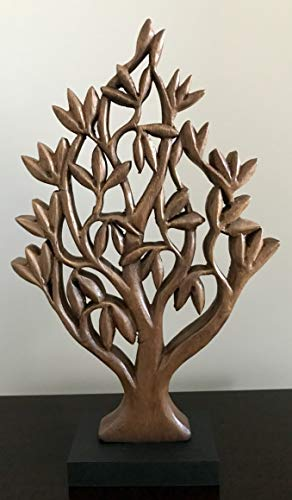 (Decozen Handmade Wooden Tree of Life Décor a Symbol of Growth and Strength Made by skilled Artisans for Farm House Home Decor Living Rooms Bedroom Kitchen Console Table 4x11x17 in)