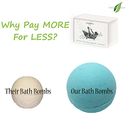 LARGEST SIZE BATH BOMBS – EXTRA LARGE Premium Handmade Vegan Bath Bomb Kit – 6 (4.1 Oz each) – Gift Set Ideas – For Women, Mom, Girls, Hers – Ultra Lu…
