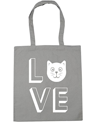 Light Beach HippoWarehouse Bag Grey Gym Love x38cm Tote litres 42cm Cats Shopping 10 FXaBOp