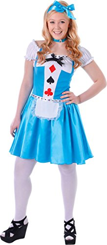 Teenage Alice In Wonderland Princess Fancy Dress Party Hearts Girl (Teenage Princess Costumes)