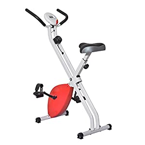 Homcom® Fitnessbike Hometrainer Indoorsportbicycle Exercise Bike Fitness LED...
