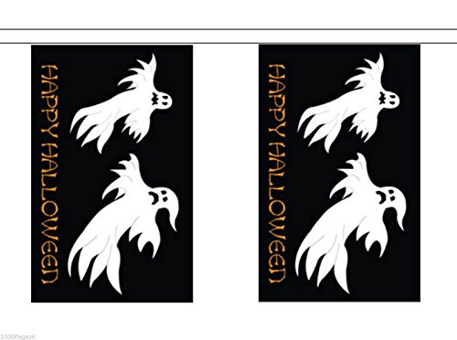 Happy Halloween Ghosts Material String Flags / Bunting