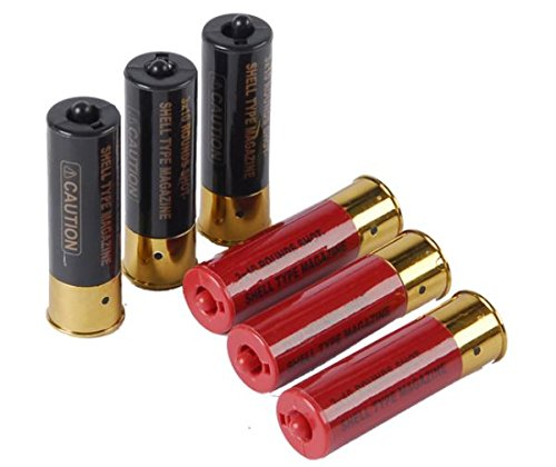 Airsoft Shotgun Shells 6-pack with holder for Double Eagle M56 Series Spring Shotguns by DE