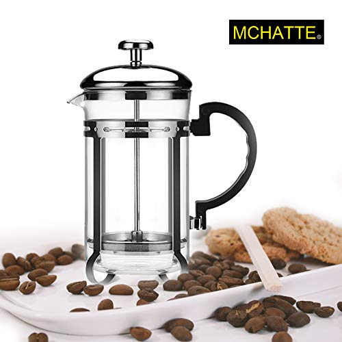 MCHATTE French Press Coffee Maker (Best French Press Technique)
